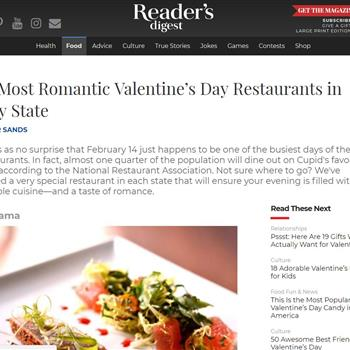 The Most Romantic Valentine's Day Restaurants in Every State