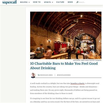 10 Charitable Bars to Make You Feel Good About Drinking